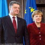 Petro Poroschenko, Angela Merkel