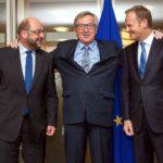 Martin Schulz Jean-Claude Juncker Donald Tusk